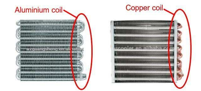 Copper coils vs Aluminium coils