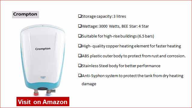 Crompton Aqua Plus 3L Instant Water Heater