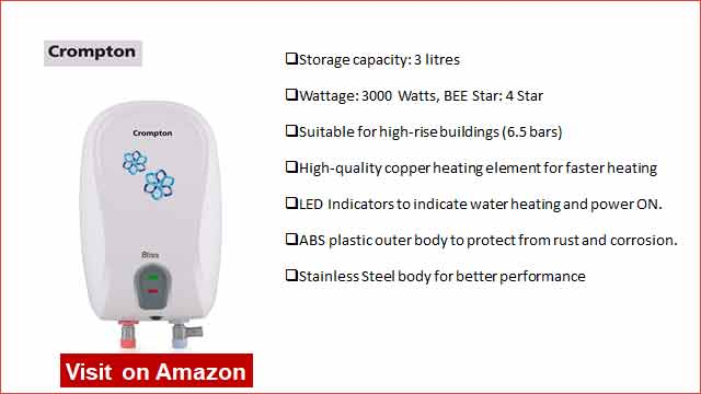 Crompton Bliss 3L Instant Water Heater