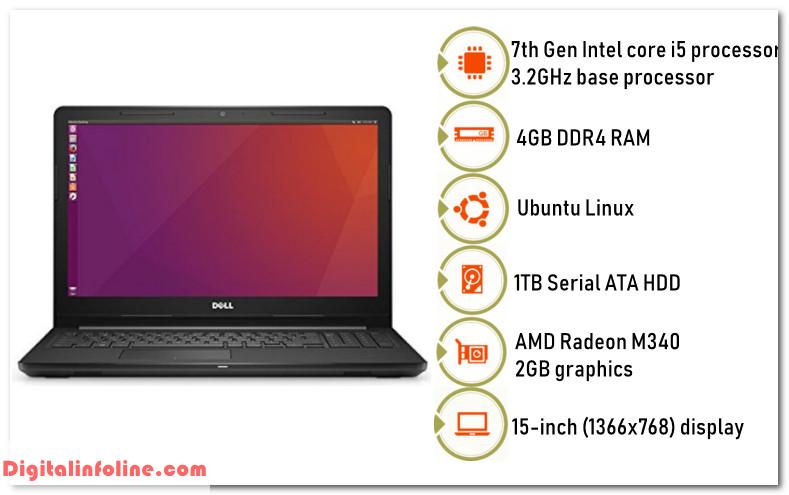 Dell Inspiron 15 Core i5 7th Gen