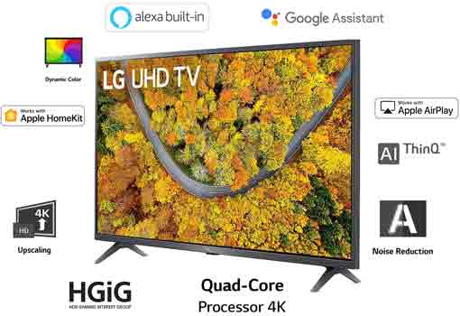 LG 50 inche 4K Ultra HD Smart LED TV 50UP7500PTZ
