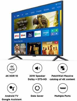 Mi 50 Inches 4K Ultra HD Android Smart LED TV 4X-L50M5-5AIN