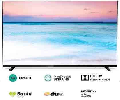 Philips 50 inche 6600 Series 4K Ultra HD LED Smart TV 50PUT6604